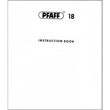 Instruction Manual, Pfaff 18