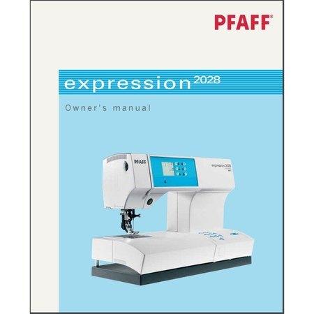 Instruction Manual, Pfaff Expression 2028