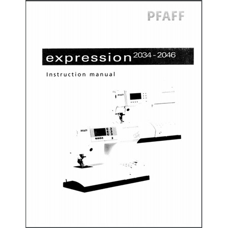 Instruction Manual, Pfaff Expression 2034