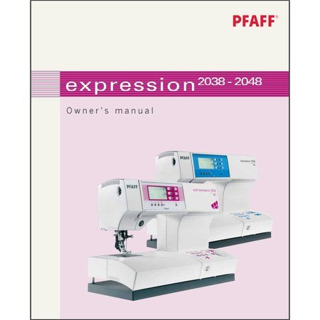 Instruction Manual, Pfaff Expression 2038