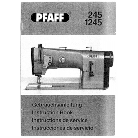 Instruction Manual, Pfaff 245