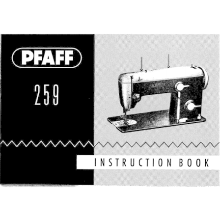 Instruction Manual, Pfaff 259