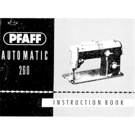 Instruction Manual, Pfaff 260