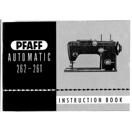 Instruction Manual, Pfaff 262-261
