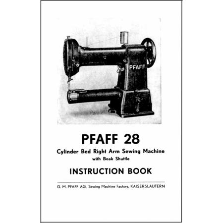 Instruction Manual, Pfaff 28