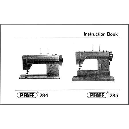 Instruction Manual, Pfaff 285