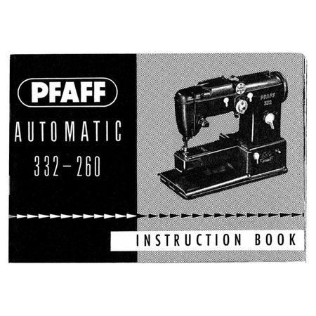 Instruction Manual, Pfaff 332-260