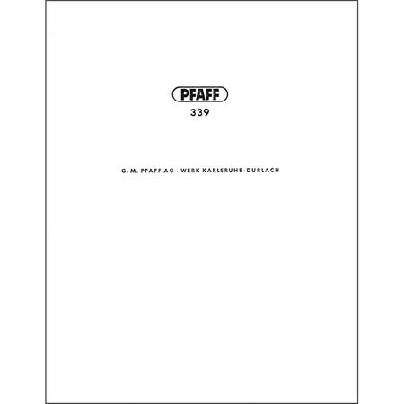 Instruction Manual, Pfaff 339