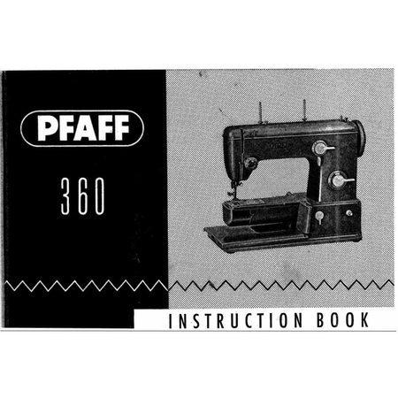 Instruction Manual, Pfaff 360