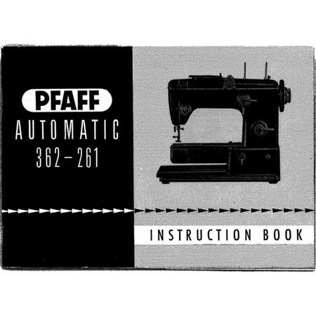 Instruction Manual, Pfaff 362-261