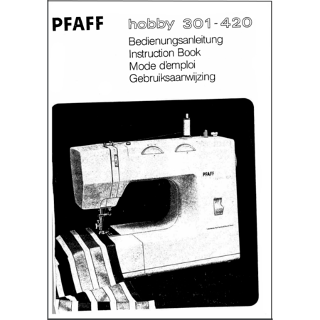 Instruction Manual, Pfaff Hobby 420