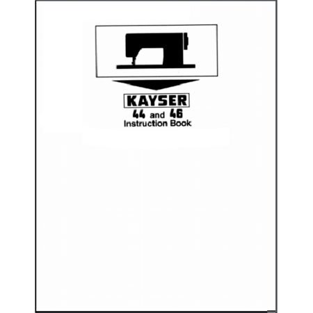Instruction Manual, Pfaff Kayser 44