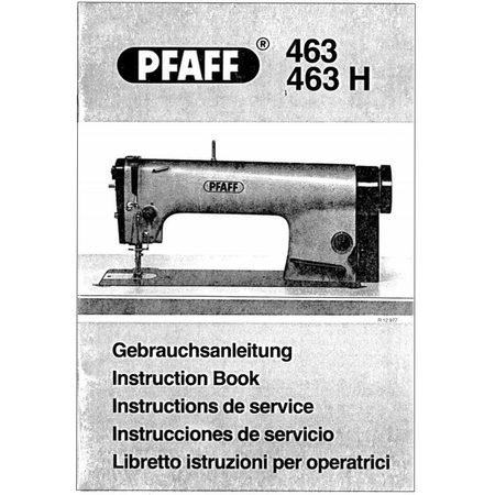 Instruction Manual, Pfaff 463H
