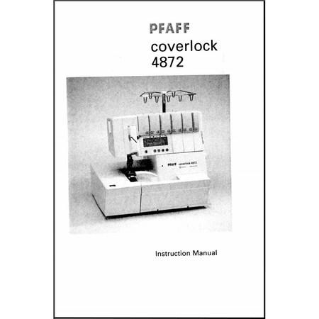 Instruction Manual, Pfaff Coverlock 4872