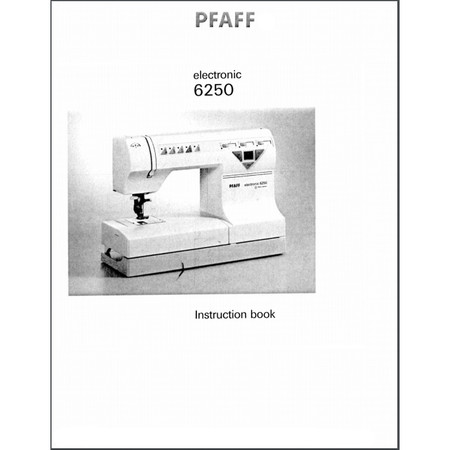 Instruction Manual, Pfaff 6250