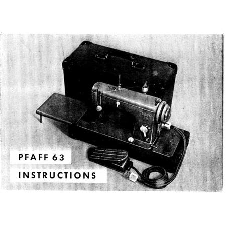 Instruction Manual, Pfaff 63