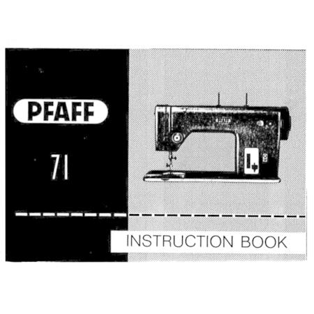 Instruction Manual, Pfaff 71