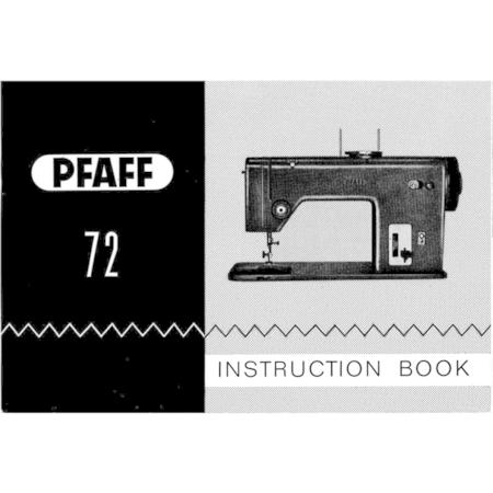 Instruction Manual, Pfaff 72