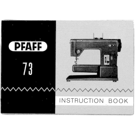 Instruction Manual, Pfaff 73