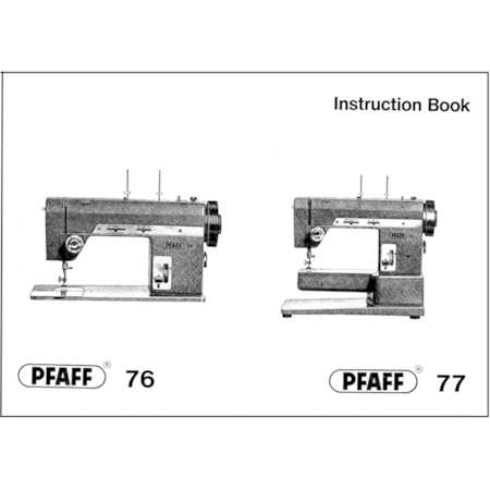 Instruction Manual, Pfaff 76