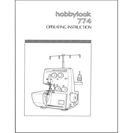 Instruction Manual, Pfaff Hobbylock 774
