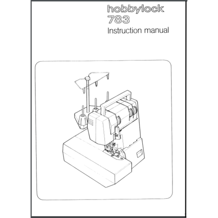Instruction Manual, Pfaff Hobbylock 783