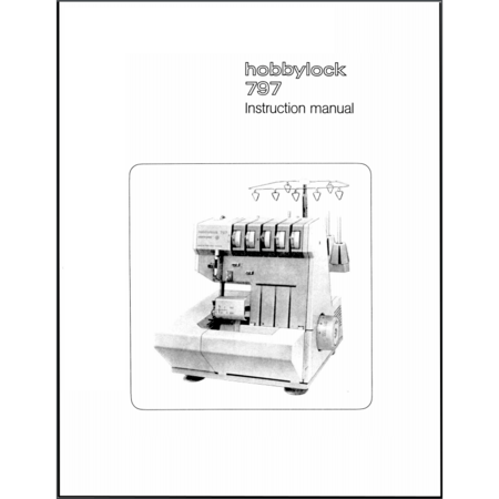 Instruction Manual, Pfaff Hobbylock 797
