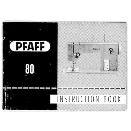 Instruction Manual, Pfaff 80