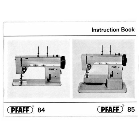 Instruction Manual, Pfaff 84