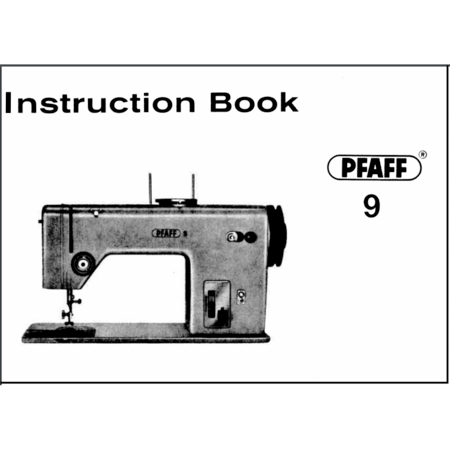 Instruction Manual, Pfaff 9