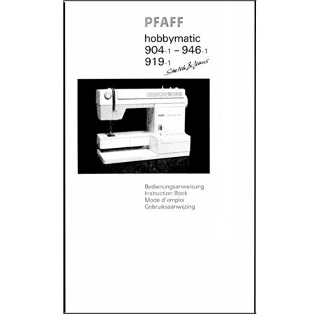 Instruction Manual, Pfaff Hobbymatic 904-1