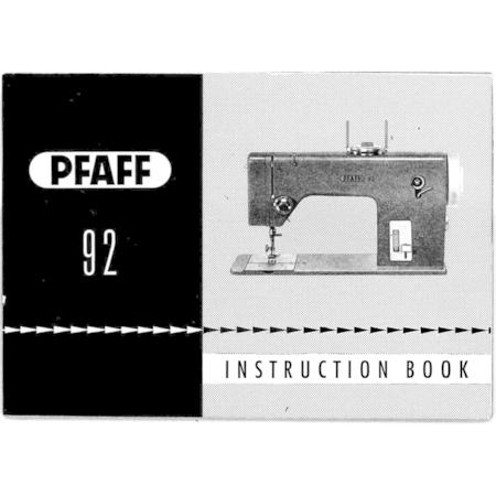 Instruction Manual, Pfaff 92
