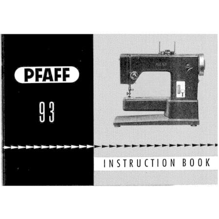 Instruction Manual, Pfaff 93