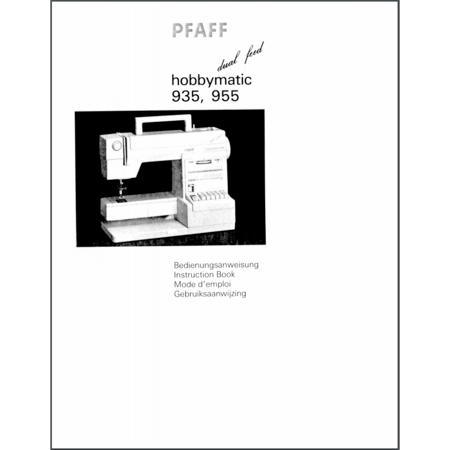 Instruction Manual, Pfaff Hobbymatic 955