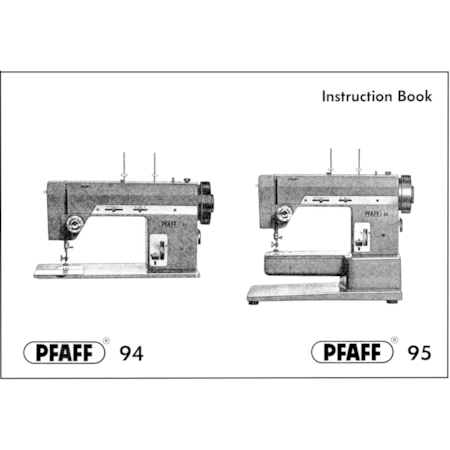 Instruction Manual, Pfaff 95