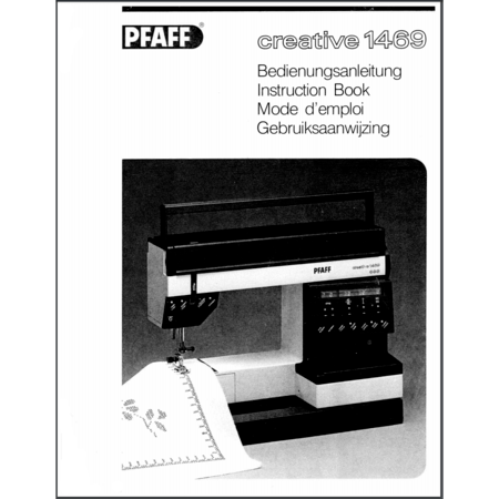 Instruction Manual Pfaff Creative 40 Sewing Parts Online Beauteous Pfaff 1469 Sewing Machine