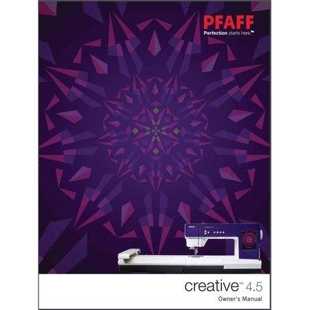 Instruction Manual, Pfaff Creative 4.5