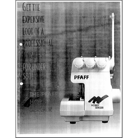 Instruction Manual, Pfaff Hobby Serger