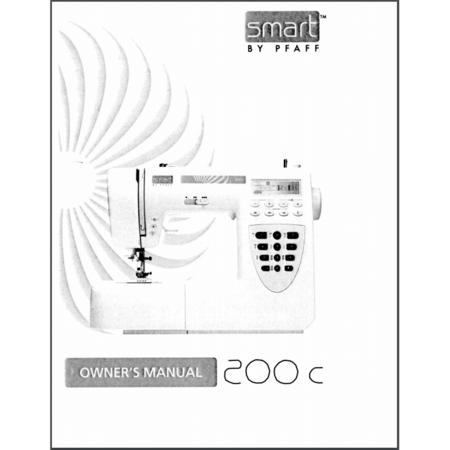Instruction Manual, Pfaff Smart 200c