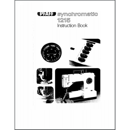 Instruction Manual, Pfaff Synchromatic 1215
