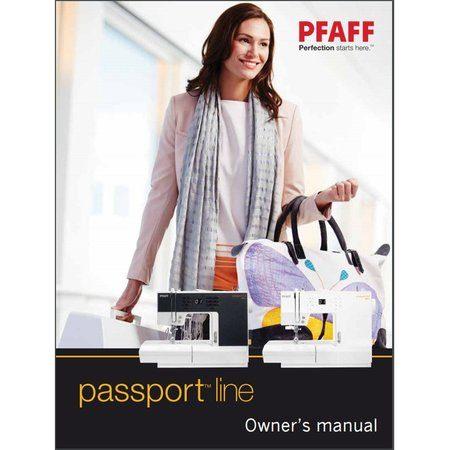 Instruction Manual, Pfaff Passport 3.0