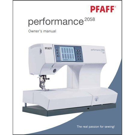 Instruction Manual, Pfaff Performance 2058