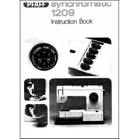 Instruction Manual, Pfaff Synchromatic 1209