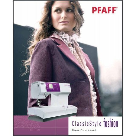 Instruction Manual, Pfaff 2023 ClassicStyle Fashion