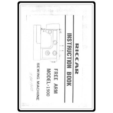 Instruction Manual, Riccar 1900