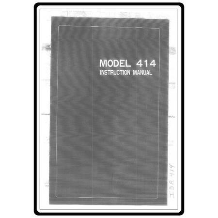 Instruction Manual, Riccar 414
