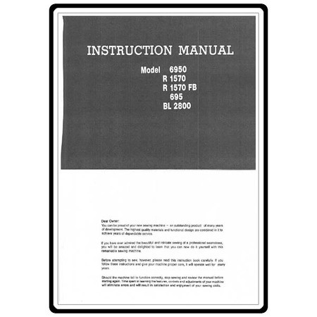 Instruction Manual, Riccar 6950