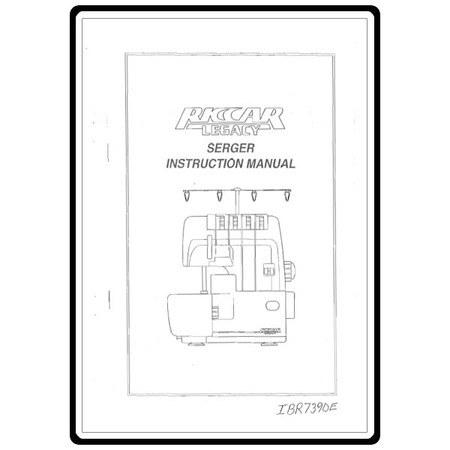Instruction Manual, Riccar 739DE