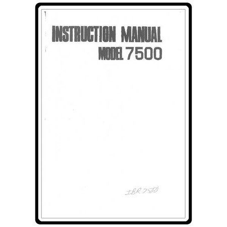 Instruction Manual, Riccar 7500