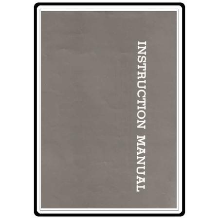 Instruction Manual, Riccar 7620